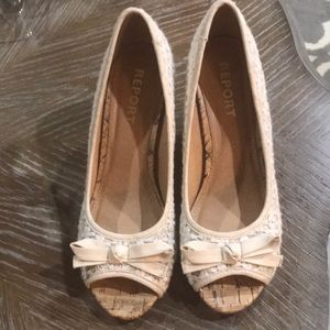 Size 8 open toed wedges